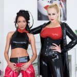 Czech VR Fetish 165 - Latex Angel With a Slave Angel Wicky, Francys Belle vr porn