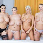 Czech VR 277 - Heaven is Big Tits Blanche Bradburry, Chloe Lamour, Crystal Swift, Florane Russell vr porn