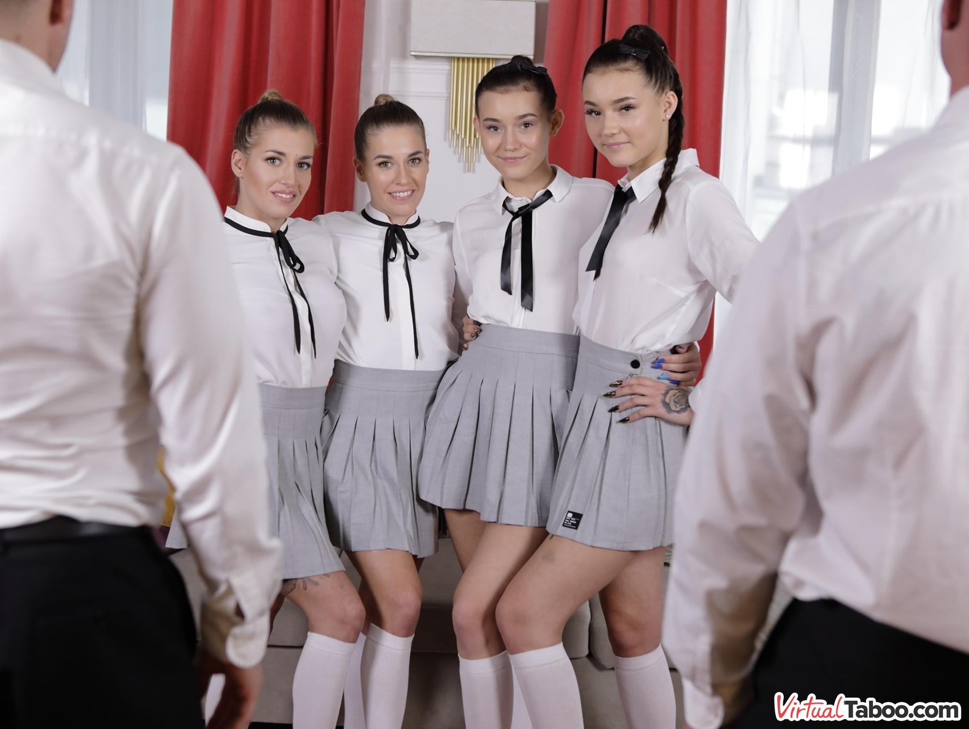 Eveline Dellai & Silvia Dellai & Lady Zee & Sandra Zee VRPron