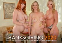 Lauren Philips & Lily James & Rachael Cavalli VRPorn