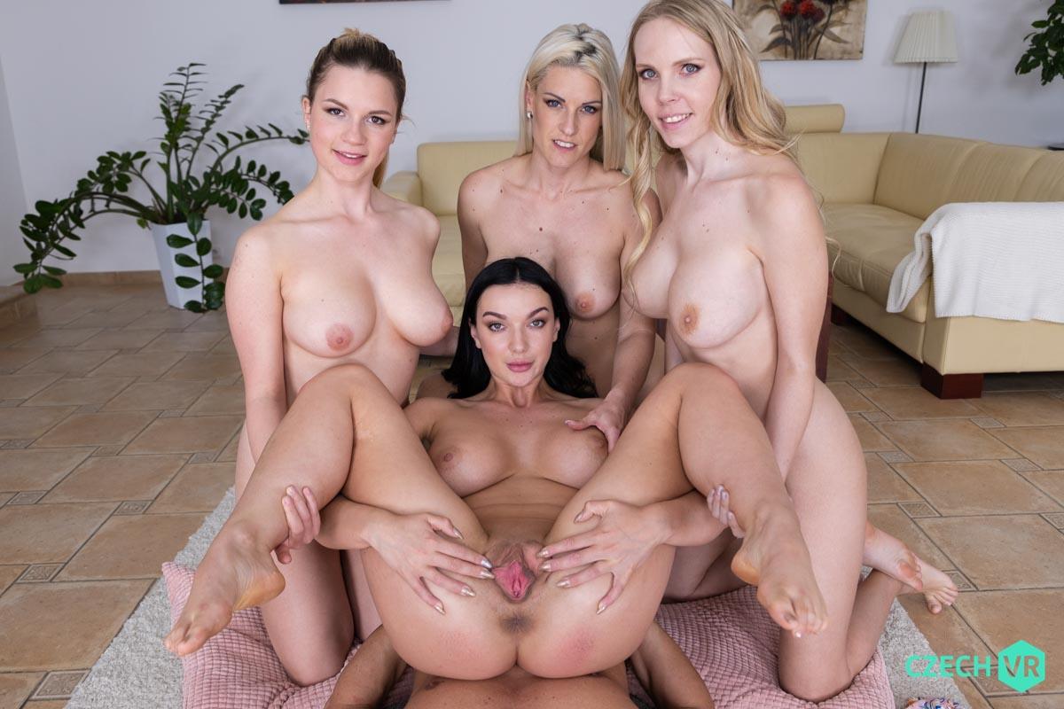 Blanche Bradburry & Florane Russell & Katarina Rina & Lady Gang VRPorn